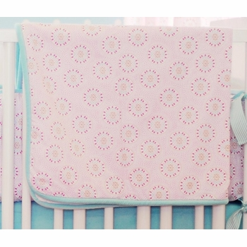 pinwheel punch crib bedding