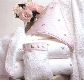 gordonsbury rosebuds hooded towel and mitt