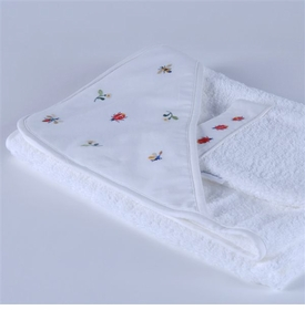 gordonsbury beetles and bees hooded towel & mitt set
