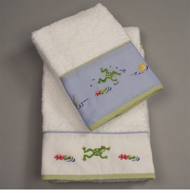 gordonsbury froggy pond guest towel