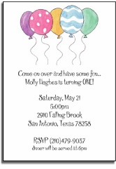 personalized invitations � party balloons