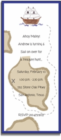personalized invitations � ahoy matey