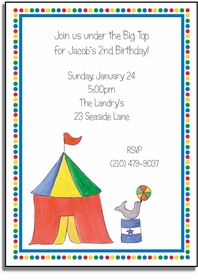 personalized invitations � big top