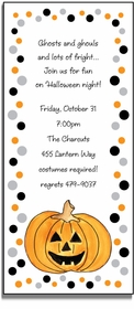personalized invitations � jack-o-lantern