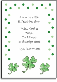 personalized invitations � lucky irish