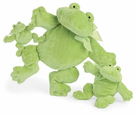 flatofrog with green bow - 15 inches by north american bear