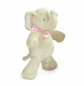 smushy elephant with pink bow - 17 inch by north american bear
