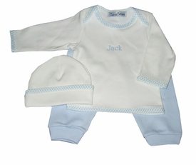 personalized baby boy set