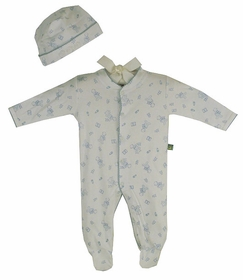 cotton footie romper set - baby boy