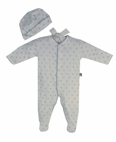 snowflake cotton footie romper set