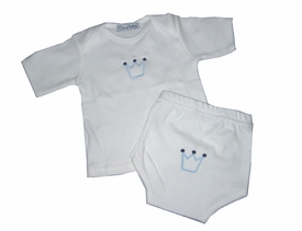 little prince infant tee and matching diaper cover
