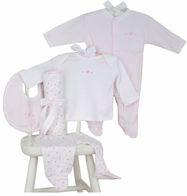 layette set - hearts