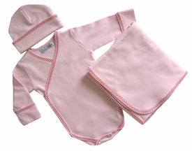 cotton layette set  -  deluxe wrap