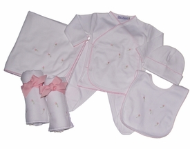 rosebud layette set