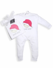 santa baby long sleeve romper