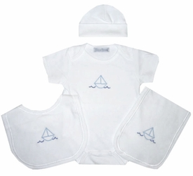 sailboat layette set