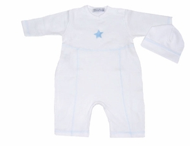 star romper and hat layette set
