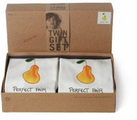 "twin ""perfect pair"" bodysuit gift set by kee-ka"