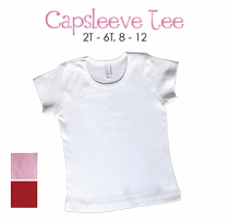 whale cap sleeve tee - personalized