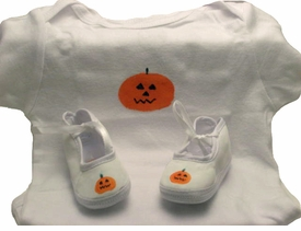 halloween baby layette set - pumpkin