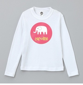 personalized elephant tee