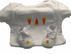 baby halloween layette set - candy corn