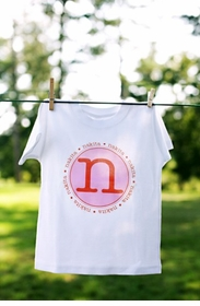 personalized girls circle tee - original style