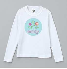 personalized spring flowers tee shirt