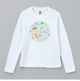 personalized underwater mermaid tee