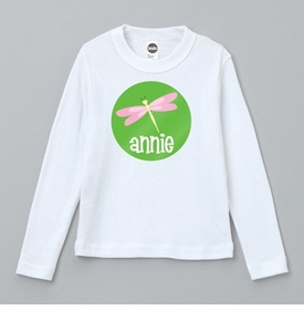 personalized pink dragonfly tee shirt