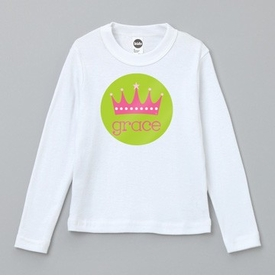 personalized pink crown tee shirt