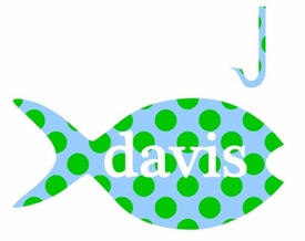 personalized tee shirt - polka dot fish