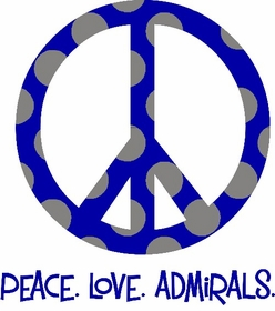 peace love school name - school spirit shirt