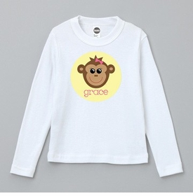personalized monkey tee