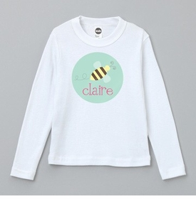 personalized busy bee tee shirt