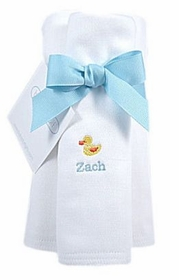 personalized burp cloth set - duck