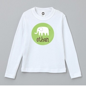 personalized elephant tee shirt