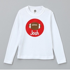 personalized football tee shirt