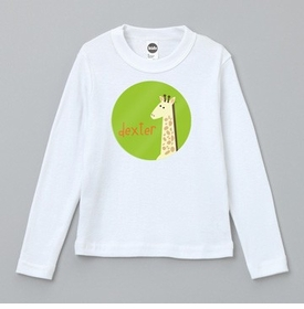 personalized giraffe tee shirt