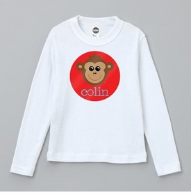 personalized monkey tee shirt