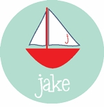 personalized sailboat tee