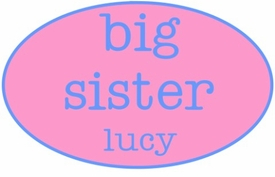 personalized big sister shirt - oval