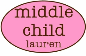 personalized middle child shirt - oval