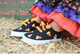 candy corn halloween sneakers