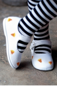white candy corn mary jane halloween shoes