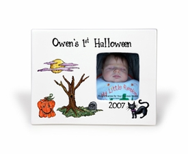 personalized baby frame - halloween