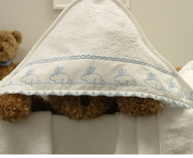 flopsy mopsy hooded towel by sweet william