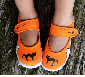 halloween cat mary jane shoes