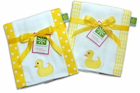 rubber duck burp cloth set