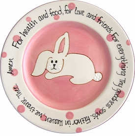 bunny prayer plate